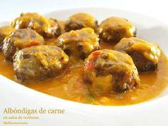Albóndigas de carne en salsa de verduras | Recetas Thermomix | MisThermorecetas