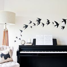 Swallow birds Vinyl Wall Stickers by vinylimpression. Explore more products on http://vinylimpression.etsy.com