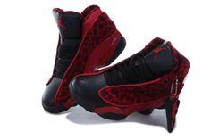 Retro Jordans- 2013 New Kids Air Jordan Retro 13 XIII Leopard Shoes Red Black -Outlet For Sale - Kids Air Jordan Retro 13 XIII Shoes
