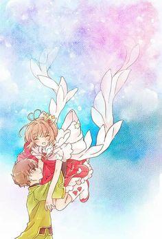 Sakura x Syaoran Cardcaptor Sakura Clear Card, Sakura Card Captor, Sakura Kinomoto, Syaoran, Manga Anime, Anime Art, Anime Love Couple, Cute Anime Couples, Roald Dahl