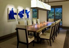 Mountain dining room - contemporary - dining room - denver - Creative West Architects