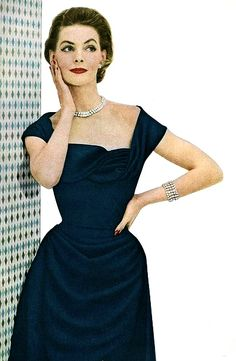 1950's fashion - georgia hamilton wearing ceil chapman