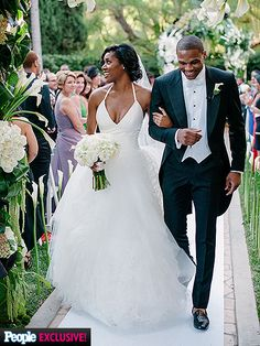 NBA Player Russell Westbrook Marries Nina Earl in Star-Studded Beverly Hills Ceremony http://www.people.com/article/russell-westbrook-nina-earl-wedding