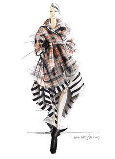 Vivienne_Westwood_plaid_skirt_fashion_illustration