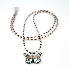 Butterfly Pendant Necklace by LLDArtisticJewelry on Etsy, $15.00