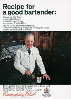 Recipe for a good bartender.