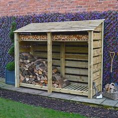 Outdoor Firewood Rack, Firewood Shed, Firewood Storage, Wood Storage Rack, Wood Storage Sheds, Backyard Projects, Outdoor Projects, Garbage Shed, Log Shed