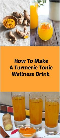 "How To Make A Turmeric Tonic Wellness Drink This immunity-boosting wellness drink is sure to give you a boost in energy and vitality! Turmeric tonic, also known as ""sunshine liquid"" is an herbal remedy that is packed full of health benefits and nutrients your body craves for. It is loaded with anti-oxidants, antiviral and anti-inflammatory properties."
