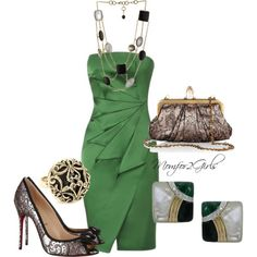 """""""Envy in Green"""" by momfor2girls on Polyvore"""