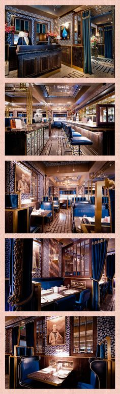 """""""Press for Champagne""""    Bob Bob Ricard in London. Each table has a button to press specifically to order champagne. And, as if that isn't reason enough to visit, it's also beautiful."""