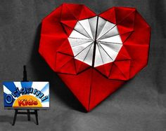 Origami Hearts | How to Make an Origami Heart | Fold and easy to do Origami Heart for ...