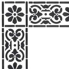 Decorate your furniture, fabric, or ceiling with a traditional border pattern like our Classical Border and Corner Stencil. Check out this post on how to stenci