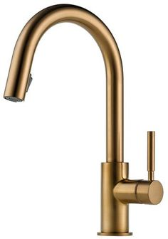Brizo 63020LF-BZ Solna Single Handle Pull-Down Kitchen Faucet, Brilliance Brushed Bronze