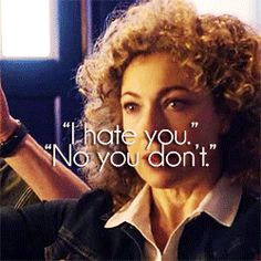 River's feelings towards the Doctor sometimes! gif. The Impossible Astronaut