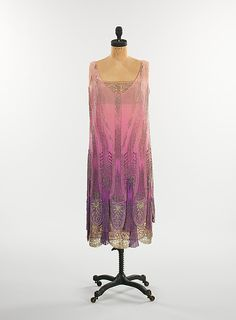 1925 Flapper evening gown.