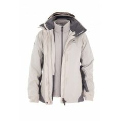 K-Way's Atlas is a three-in-one ladies' nylon rip-stop travel jacket with a waterproof coating and a zip-in removable inner fleece. Lined with mesh for added vapour permeability, the jacket also features an adjustable and removable hood, adjustable cuffs and hem, engineered arm articulation and assorted pockets for storing valuables