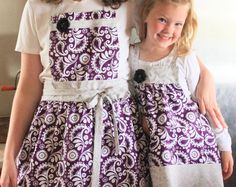 Mommy and Me Mother's Day Matching Retro Aprons