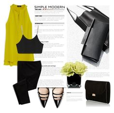 """Jaune et Noir"" by pattykake ❤ liked on Polyvore featuring Hervé Gambs, Theory, Old Navy, Mansur Gavriel, Alexander Wang, Gucci and Supra"
