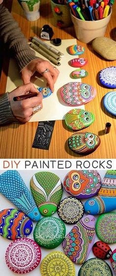 Easy Kids Craft Ideas: DIY Painted Stones and Rocks.