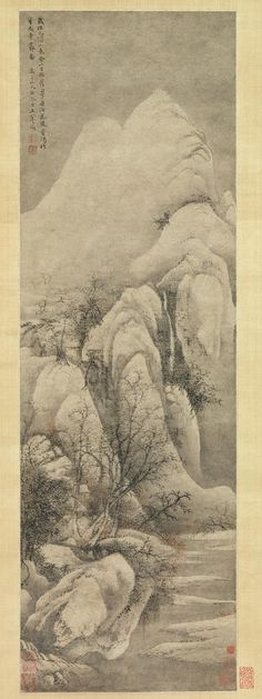 Snow Clearing: Landscape after Li Cheng, Qing dynasty (1644–1911), dated 1669 Wang Hui (Chinese, 1632–1717) Hanging scroll; ink and color on paper