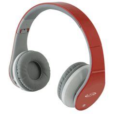 iLive IAHB64R Bluetooth Stereo Headphones w/Microphone - Red