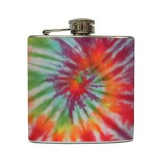 Tie Dye Liquor Flask Hippie Retro Colorful Peace Love Flower Child Bridesmaid Gift Stainless Steel 8 oz or 6 oz Liquor Hip Flask Love And Hip, Wine And Beer, Candy Jars, Hippie Chic, Summer Of Love, Bridesmaid Gifts, Gifts For Friends, Liquor, Pattern Design