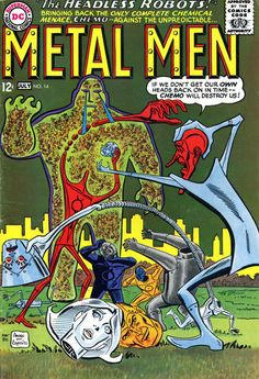 Metal Men #14 July 1965 cover by Ross Andru and Mike Esposito!