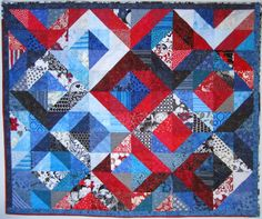 ART GIRL: Red/White/Blue quilt finished