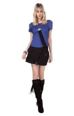 Marque suas amigas se gostou desse look!   Blusa Ajustada Manga Curta  MAIS DETALHES!  http://imaginariodamulher.com.br/look/?go=2cwjbib