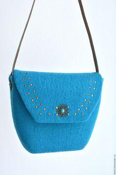 """Купить Сумка валяная """"Бирюза"""" - орнамент, сумка ручной работы, сумка женская"""