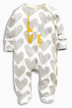 Buy Three Pack Ochre Bunny Sleepsuits (0-2yrs) from the Next UK online shop