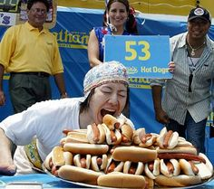 Before I die, I want to compete in the annual Nathan's Hot Dog Eating Contest.