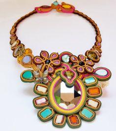 Soutache Jewelry. Soutache necklace. Soutache by beadsbyPanka, Ft47500.00