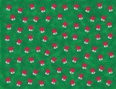 Santa ILY Glove Gift Wrap Paper