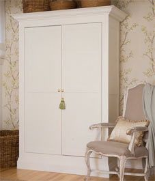 Update cheap ikea wardrobe with crown molding