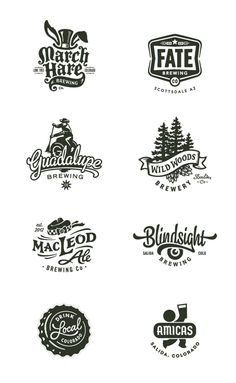 vintage logo inspiration with graphic elements 2 Logo, Badge Logo, Typography Logo, Graphic Design Typography, Branding Design, Logo Inspiration, Tolle Logos, Logo Luxury, Brewery Logos