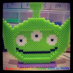 Alien Toy Story photo frame perler beads by shirley117