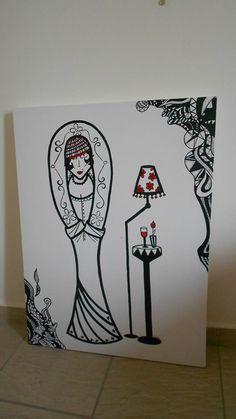 (VENDIDA) - Boneca coleção Acrílica - tela 90X70 arte- art
