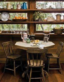 Um pouco de decoração...: Cozinhas Rústicas