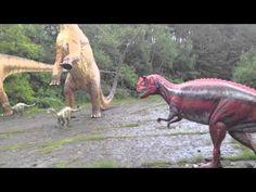 Dinosaurier - verschiedene Parks und Ausstellungen - YouTube