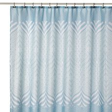 $25 Bliss Blue and White Fabric Shower Curtain - Bed Bath & Beyond