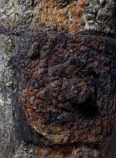 Washed Away II Detail of emooridery rusty bolt