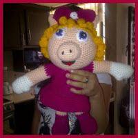 Patrón de Miss Piggy en castellano
