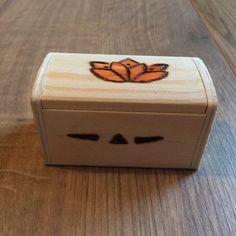 coffret bois fleur de lotus