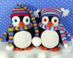 Pendleton and Penelope Penguin, Amigurumi Crochet Pattern