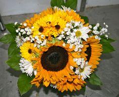 Sunflower and daisy bouquet