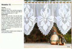 Pretty flower crochet curtain, filet work ♥LCC-MRS♥ with diagram