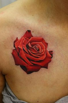 3D Rose Tattoos Design