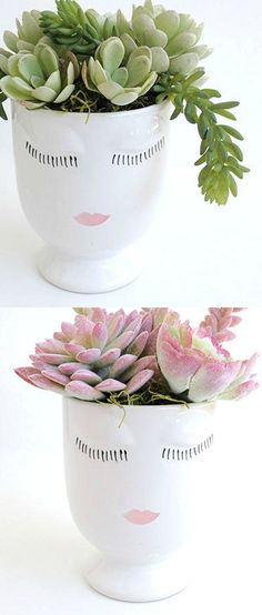 Pretty Face Vases | BohemiaGoods on Etsy