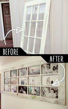 Neat idea for the laundry door we replaced. ..